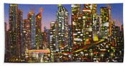 Edmonton Night Lights Bath Towel