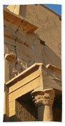 Egyptian Temple Architectural Detail Bath Towel