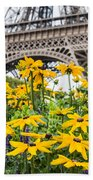 Eiffel Flower Bath Towel