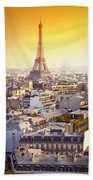 Eiffel Tower Bath Towel