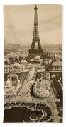 Eiffel Tower, Paris, 1900 Bath Towel