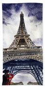 Eiffel Tower Paris Bath Towel