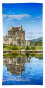 Eilean Donan Castle Reflections 2 Bath Towel