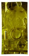 Einstein In Crystal - Yellow Bath Towel