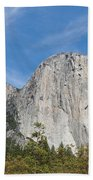 El Capitan And The Wall Of Granite Bath Towel