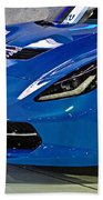 Electric Blue Corvette Bath Towel