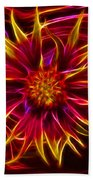 Electric Firewheel Flower Artwork Bath Towel