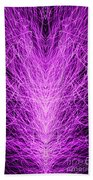 Electrostatic Pink Bath Towel