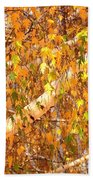 Elegant Autumn Branches Bath Towel