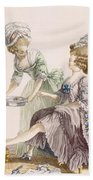 Elegant Lady Having Her Feet Washed Hand Towel