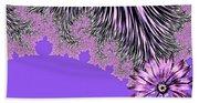 Elegant Tentacles Purple And Lilac Bath Towel