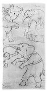 Elephant Acts, 1880s Bath Towel