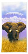 Elephant At Table Mountain Bath Towel