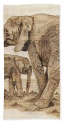 Elephants Bath Towel