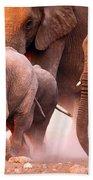 Elephants Stampede Bath Towel