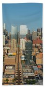 Elevated View Of Cityscape, Lake Street Bath Towel