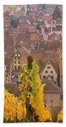 Elevated View Of The Riquewihr Bath Towel