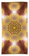 Eleven Sacred Steps Of Light K1 Bath Sheet by Derek Gedney