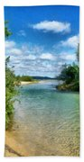 Elk River- Elk Rapids Michigan Bath Towel