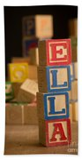 Ella - Alphabet Blocks Bath Towel