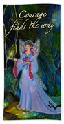 Ella Rose-courage Lights The Way Bath Towel