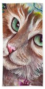 Emerald Eyes Bath Towel
