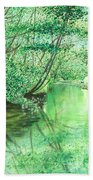 Emerald Stream Bath Towel