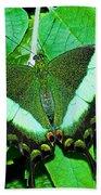 Emerald Swallowtail Butterfly Bath Towel