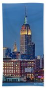 Empire And Chrysler Buildings Bath Towel