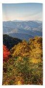 Endless Autumn Mountains Bath Towel