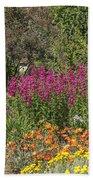 English Garden In Summertime Bath Towel