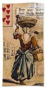English Playing Card, C1754 Bath Towel