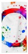 Enso Circle Paint Splatter Bath Towel