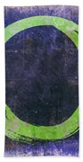Enso No. 108 Green On Purple Hand Towel by Julie Niemela