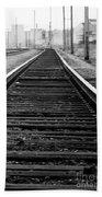 Entering The Train Yard. Washington Dc Bath Towel