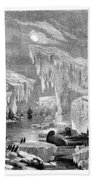 Erebus And Terror In The Ice 1866 Bath Towel