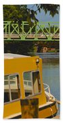Erie Canal At Pittsford Ny Bath Towel