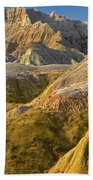 Eroded Buttes Badlands National Park Bath Towel