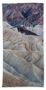 Erosional Landscape - Zabriskie Point Bath Towel