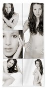 Erotic Beauty Collage 28 Bath Towel