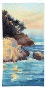 Evening Light Point Lobos Bath Towel
