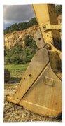 Excavator At Big Rock Quarry - Emerald Park - Arkansas Bath Towel