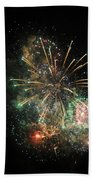 Explosion Of Color On Canada Day Bath Towel