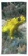 Extrude Yellow Frog Bath Towel