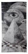 Eye Of The Dark Star - Journey Through The Wormhole Hand Towel