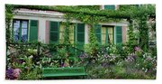 Facade Of Claude Monets House, Giverny Hand Towel