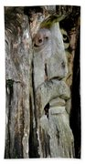Face In The Forest Bath Towel