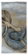 Faery And The Stork - Prints Bath Towel