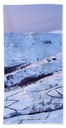 Fairfield Covered In Snow At Sunset Bath Towel