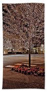 Fairhope Ave With Clock Night Image Bath Towel